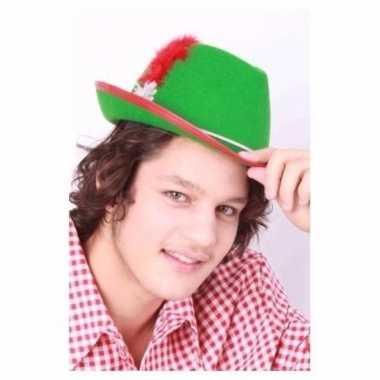 Oktoberfest tiroler hoed heren groen