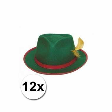Oktoberfest tiroler hoedjes groen