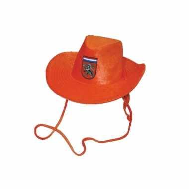 Oranje cowboyhoed volwassenen