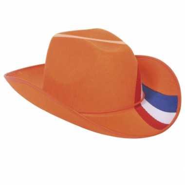 Oranje hoed Holland kleuren