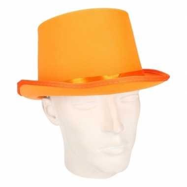 Oranje hoge hoed volwassenen