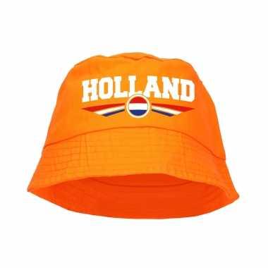 Oranje supporter / koningsdag vissershoedje holland ek/ wk fans
