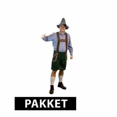 Pakket Oktoberfest kleding maat L accessoires heren