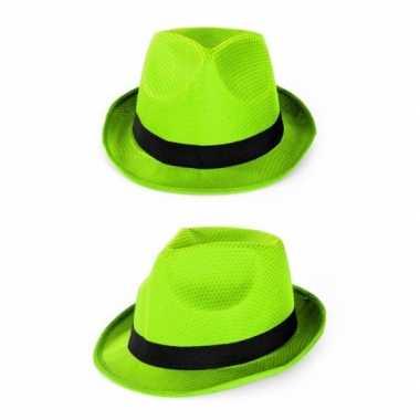 Party gleufhoedjes groen