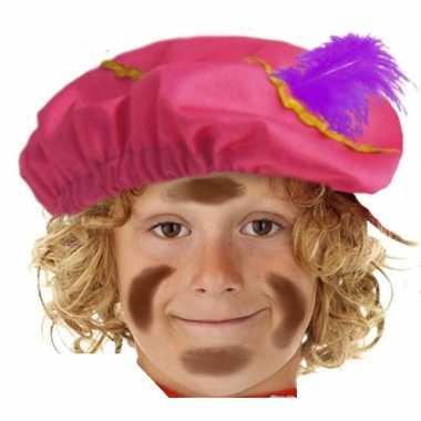 Pietenmuts/baret roze kinderen