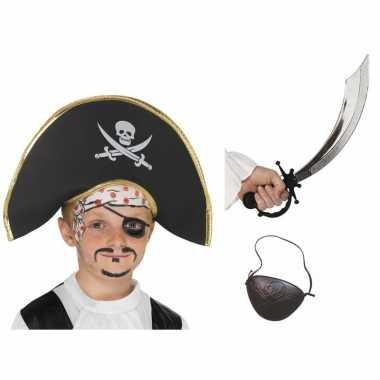 Piraat accessoires verkleedset kinderen