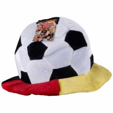 Pluche voetbal hoed Belgie
