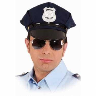 Politie pet blauw volwassenen