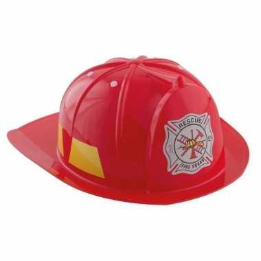 Rode brandweerhelm verkleed accessoire kinderen