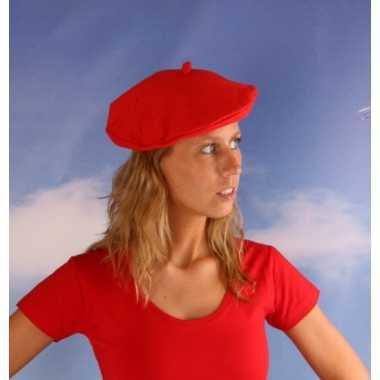Rode dames baret
