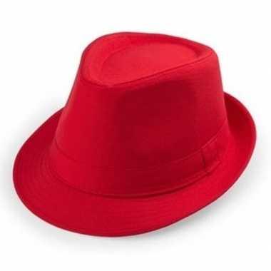Rood trilby verkleed hoedje volwassenen