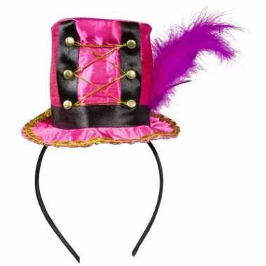 Roze hoedje diadeem dames