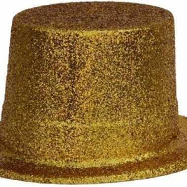 Toppers Gouden glitter hoed