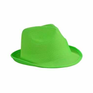 Trilby feesthoed lime volwassenen