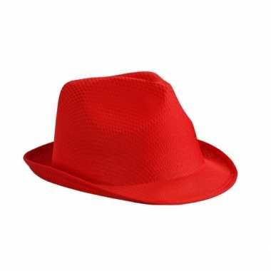 Trilby feesthoed rood volwassenen