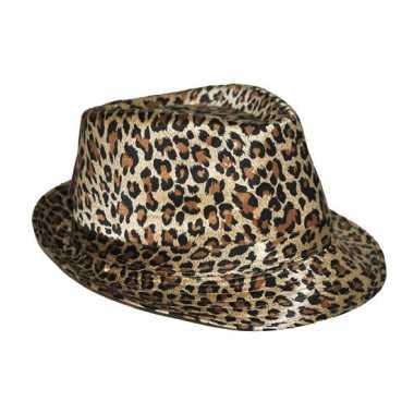 Trilby hoedje luipaard print
