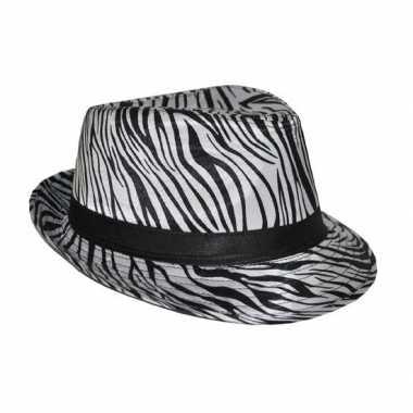 Trilby hoedje zebra print