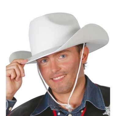 Witte cowboyhoed volwassenen