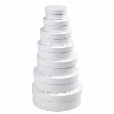 Witte ronde doos ,