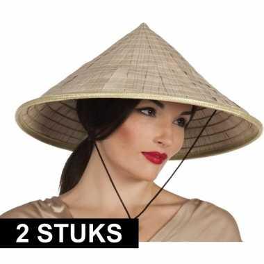 X aziatische hoeden verkleed accessoire