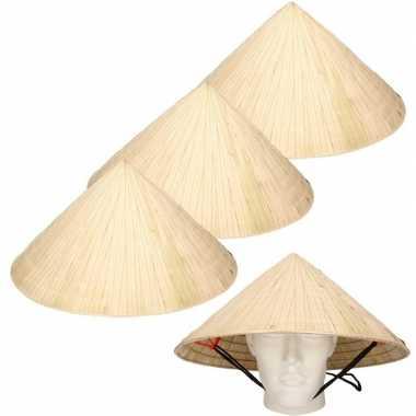 X chinese stro hoeden / chinees hoedje kinband