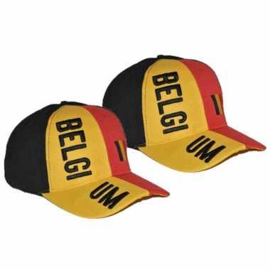 X stuks belgische supporters cap/pet