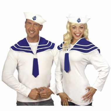 X stuks matroos verkleed setjes marine blauw