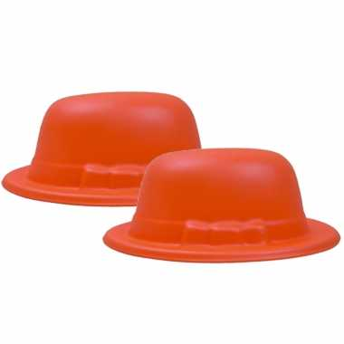 X stuks oranje fans/supporters bolhoedje foam