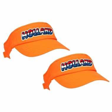 X stuks oranje supporter / koningsdag zonneklep holland ek/ wk fans