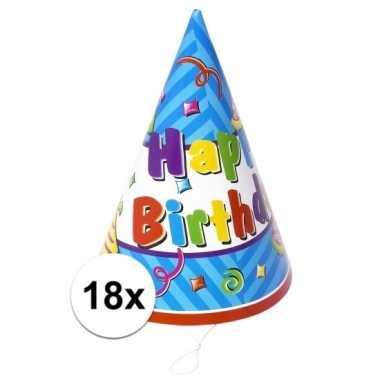 X stuks papieren feesthoedjes happy birthday