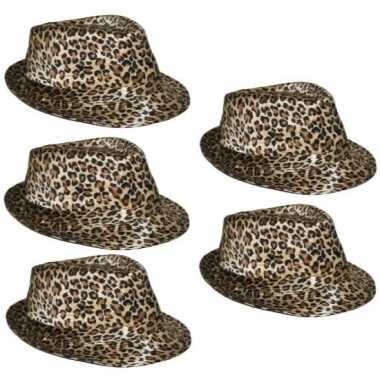 X trilby hoedje luipaard print