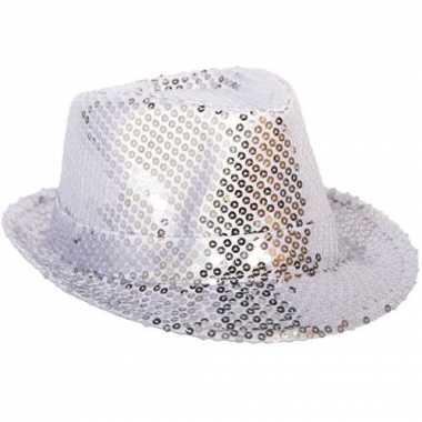 Zilveren hoedje pailletten