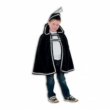 Zwart Prins Carnaval kinder kostuum