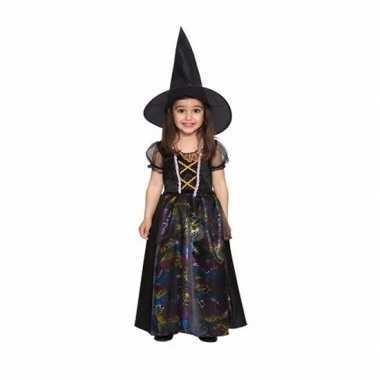 Zwarte heks jurkje meisjes
