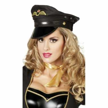 Zwarte luxe piloten pet