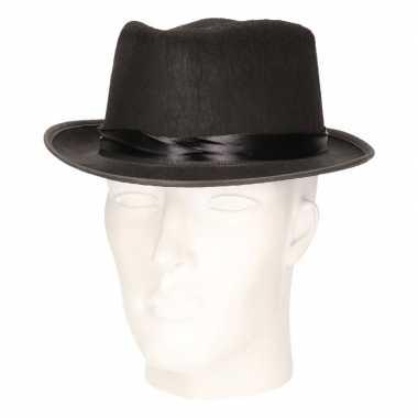 Zwarte trilby hoed vilt volwassenen