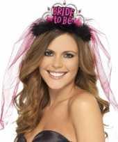 Bride to be tiara roze sluier