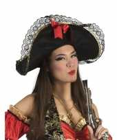 Dames piratenhoed strik