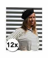 Franse baretten zwart 10063058