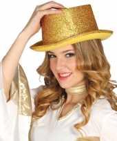 Gouden glitter hoge hoed volwassenen