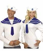 Matroos verkleed set marine blauw