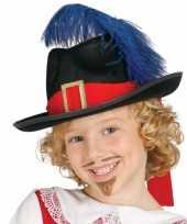 Musketiers hoed veer kinderen