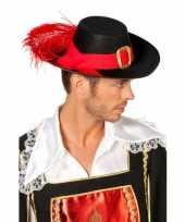 Musketiers hoed zwart