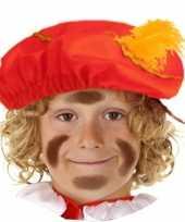 Pietenmuts baret rood kinderen