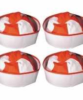 Set stuks rood matrozen zeeman hoedje matrozenpet 10297979