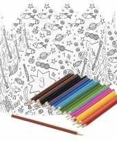 X knutsel papieren kroontjes om te kleuren incl potloden