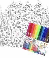 X knutsel papieren kroontjes om te kleuren incl stiften