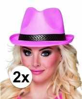 X roze toppers trilby hoeden volwassenen