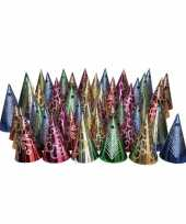 X stuks gekleurde punthoedjes glitter feest