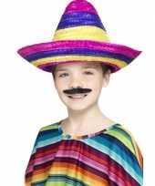 X stuks gekleurde verkleed sombrero kinderen